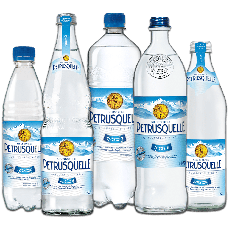 Siegsdorfer Petrusquelle Mineralwasser spritzig