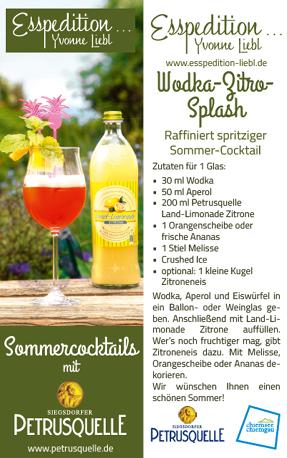 Coctails Wodka-Zitrone Siegsdorfer Petrusquelle